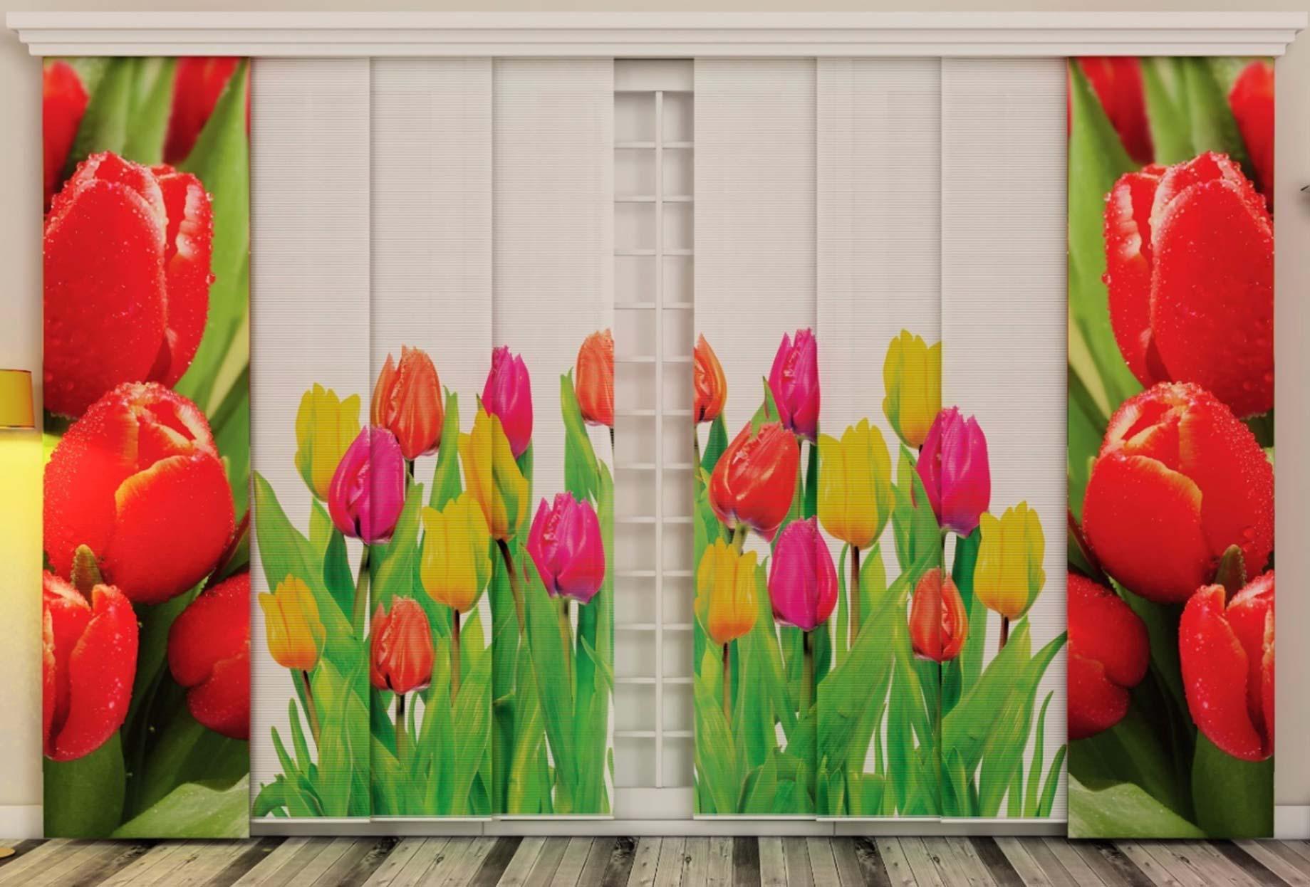 Flächenvorhang mit Tulpen