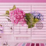 Doppelrollos mit Blumen
