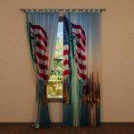 Fotovorhang mit Flagge